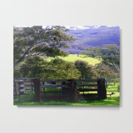 Cattle Yard Metal Print