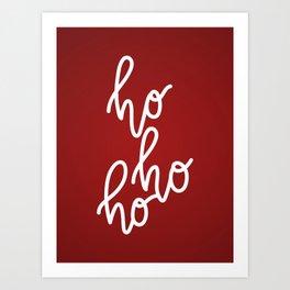 HoHoHo Merry Christmas Art Print