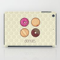donuts iPad Cases featuring Donuts by Monstruonauta