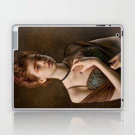 Girl with a Pearl Necklace Laptop & iPad Skin