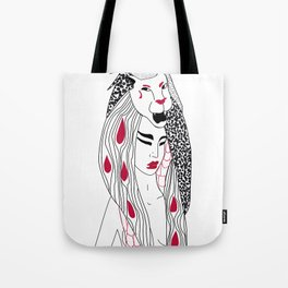 Leo / 12 Signs of the Zodiac Tote Bag