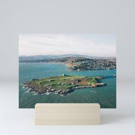Aerial view of Dalkey Island Mini Art Print