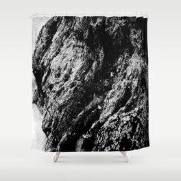 White Wood Stone Shower Curtain