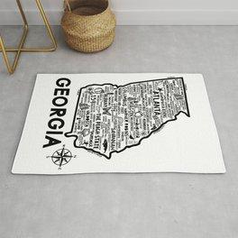 Georgia Map  Rug