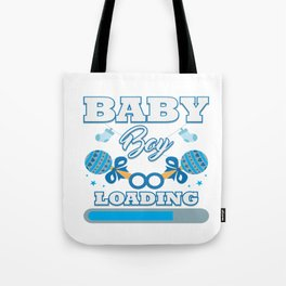 Baby Is Loading Boy Pregnancy Announcement Gift Tote Bag
