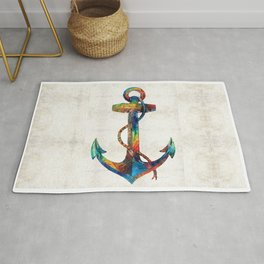 Nautical Anchor Art - Anchors Aweigh - By Sharon Cummings Rug