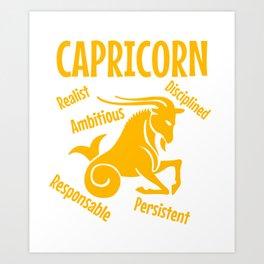 Capricorn the best Art Print