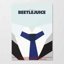 Beetlejuice - Minimalist Poster Canvas Print