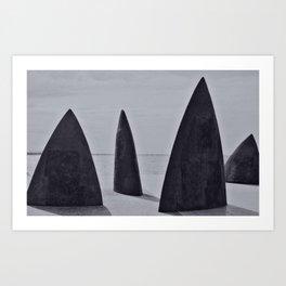 Shark sculpture Art Print
