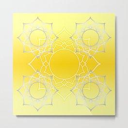 Lotus Mandala (Yellow) Metal Print