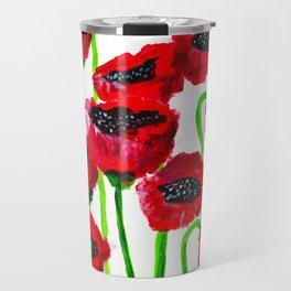 Red poppies Travel Mug