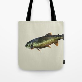 Trout on Beige Tote Bag