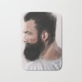 Bearded man Bath Mat