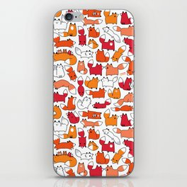 Foxy Foxes Doodle iPhone Skin