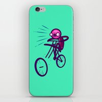 cycling iPhone & iPod Skins featuring Cycling Disaster by Artistic Dyslexia