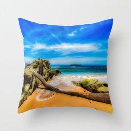 Singular Tropical Beach Throw Pillow