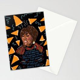 Patti Said Eat The Damn Pie  Stationery Cards