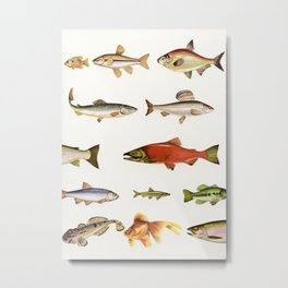 Fishing Line Metal Print