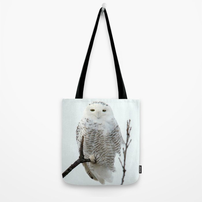 Snowy in the Wind (Snowy Owl 2) Tote Bag