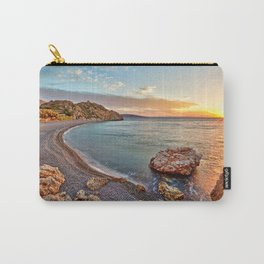 Sunrise at the famous beach Mavra Volia in Chios island, Greece Carry-All Pouch