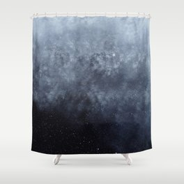 Blue veiled moon Shower Curtain