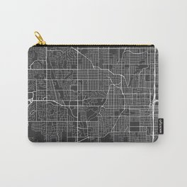 Omaha Map, USA - Gray  Carry-All Pouch