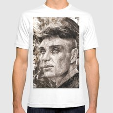 Cillian Murphy / Tommy Shelby / Peaky Blinders Mens Fitted Tee White MEDIUM