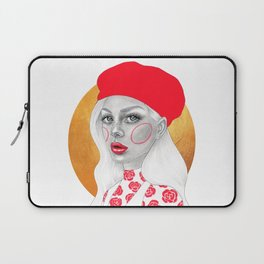 Girl with red beret Laptop Sleeve