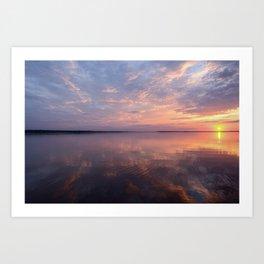 Sunlight and shades of a beautiful sunset Art Print