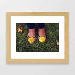 Yellow Flower Shoe! Framed Art Print