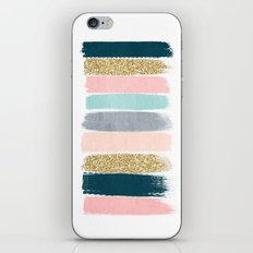 Zara - Brushstroke glitter trendy girly art print and phone case for young trendy girls iPhone & iPod Skin