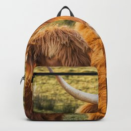 Mother and child. Highland Cows of Scotland....(heilan coo's) Backpack