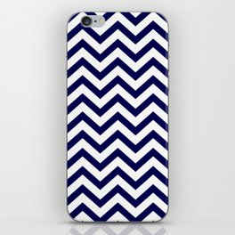 Simple Chevron Pattern - Blue & White - Mix & Match with Simplicity of life iPhone Skin