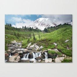 Mt. Rainier, Edith Creek, Scenic Landscape, National Park Canvas Print