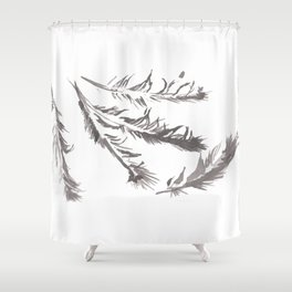 Crow Feather Study Shower Curtain