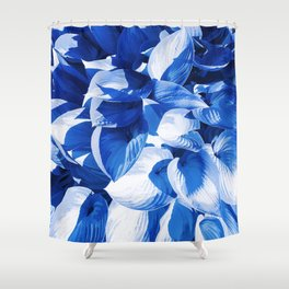 Botanic leafage - cobalt Shower Curtain