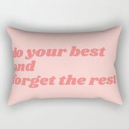 do your best Rectangular Pillow