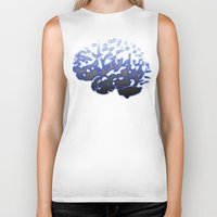 brain Biker Tanks featuring Brain by Temi Alli