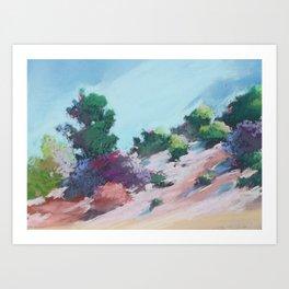 Blush Bluff - California Landscape Art Print