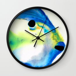 Tropical Fish 3 - Abstract Art By Sharon Cummings Wall Clock