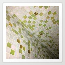 Green Squares. Fashion Textures Art Print