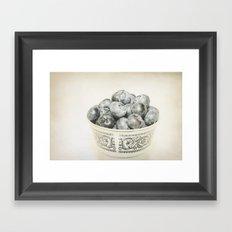Blueberry Bowl Framed Art Print