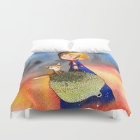 the little prince Duvet Covers featuring Little Prince by Jose Luis Ocana