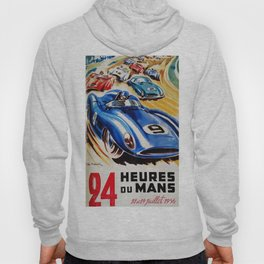 Le Mans poster, 1956, race poster, t shirt Hoody