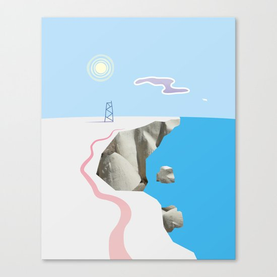 White Silence Canvas Print