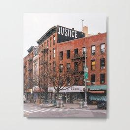 JUSTICE Metal Print