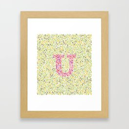 """U"" Eye Test Full Framed Art Print"