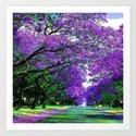 purple flowers by designer0