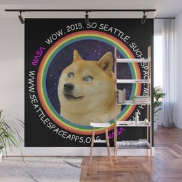Seattle Space Apps 2015: doge design Wall Mural