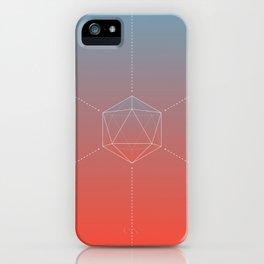Icosahedral Sunrise iPhone Case